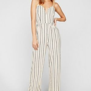 Striped V-wire Cami Jumpsuit